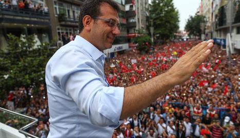 El vencedor de les eleccions locals a Istanbul, Ekrem Imamoglu.
