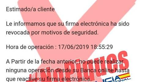 Alerten d'estafes suplantant Bankia i Lidl