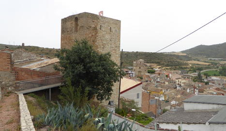 Vista del poble de Camarasa, a la Noguera.