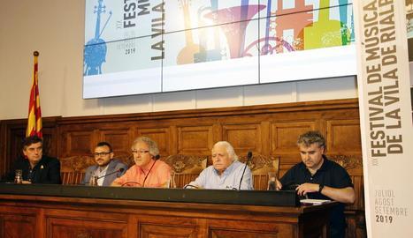 Presentació del Festival de Música de la Vila de Rialp, ahir a l'IEI.