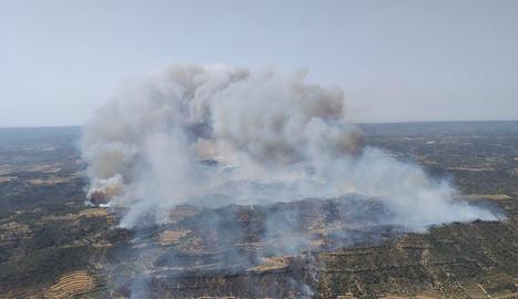 L'incendi ja ha afectat unes 500 hectàrees.