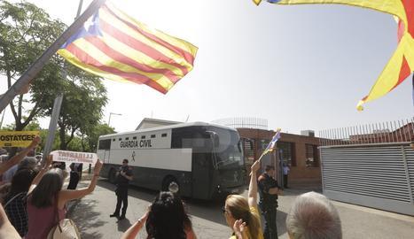 Els presos independentistes fan una aturada a Lleida