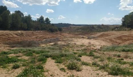 La zona on el relleu s'aprofitarà per construir una bassa de més de 2.700 metres quadrats.