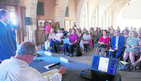 El delegat d'Educació, Carles Vega, en la jornada de Verdú.