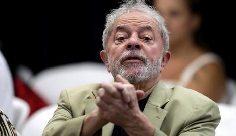 Imatge d'arxiu de l'expresident brasiler Luiz Inácio Lula da Silva, que està a la presó.