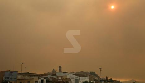 Imágenes del incendio de Ribera d'Ebre