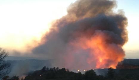 L'incendi de l'Ebre, en imatges