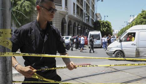 La policia acordona la zona després dels atacs.