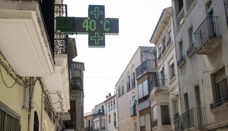 Guissona va superar els 40 graus per segona vegada en aquest segle.