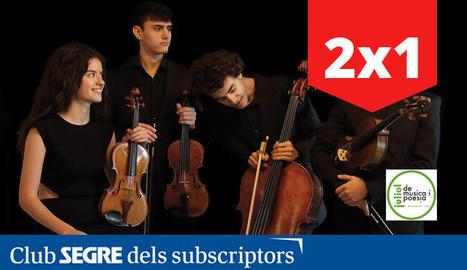 El grup Atenea Quartet serà l'encarregat d'interpretar música de cambra de Haydn i Schumann.