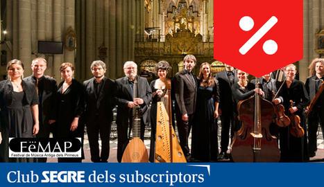 Part dels components de 'La Grande Chapelle' que protagonitzaran varis concerts del FeMAP 2019.