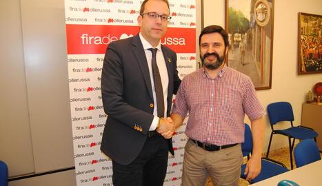 Marc Solsona, amb Poldo Segarra.