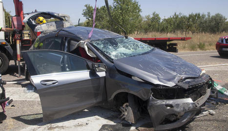 Un mort i un ferit greu en un accident a l'A-2 a Fonolleres