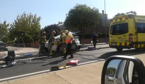 Un dels ferits va haver de ser rescatat.