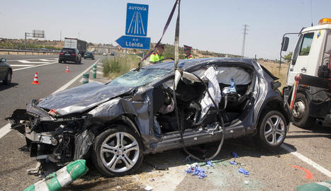 L'accident es va produir a la incorporació a l'autovia en direcció a Lleida.
