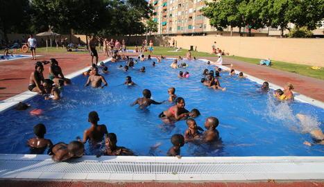 Imatge ahir a la tarda a les piscines municipals de Cappont.