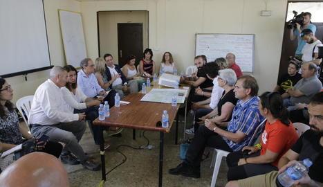 Reunió del president Quim Torra amb els alcaldes dels municipis afectats pel foc.