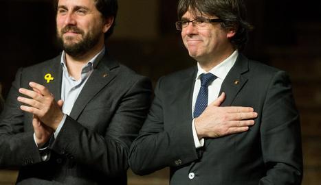 Toni Comín i Carles Puigdemont en una imatge recent.