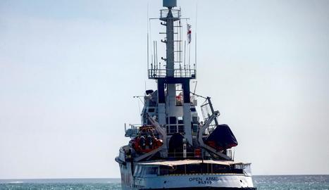 El vaixell 'Open Arms' va sortir dimarts passat des del port de Barcelona.