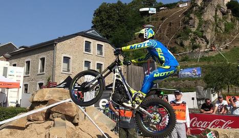 Sergio Ribau durant una de les zones de la categoria de Trial2.