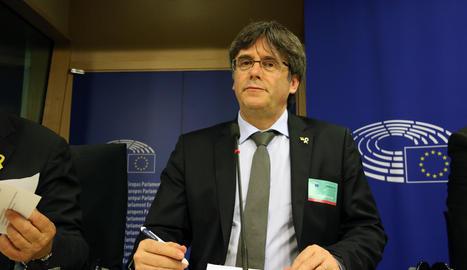 L'exprL'expresident de la Generalitat Carles Puigdemont.esident de la Generalitat Carles Puigdemont.