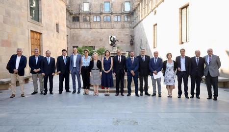 Torra i Chacón van rebre ahir els membres de les Cambres de Comerç al Palau.