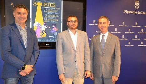 La Diputació de Lleida va acollir ahir la presentació del 'Solistes'.