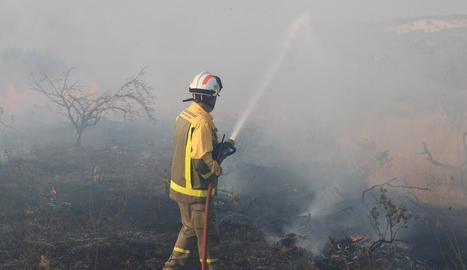 Els bombers segueixen lluitant contra el foc que afecta Almorox i diversos municipis madrilenys.