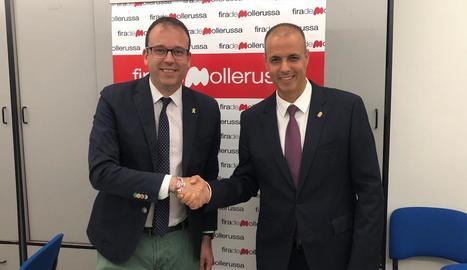 Solsona, i el director de Fira Mollerussa, Xavier Roure.