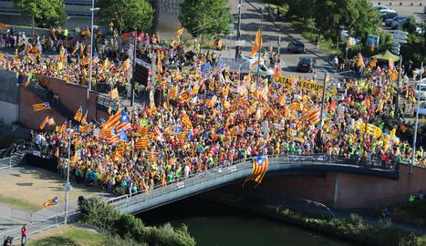 Més de sis-cents lleidatans a la manifestació d'Estrasburg