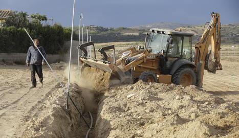Instal·lació de regadiu al municipi de Balaguer.