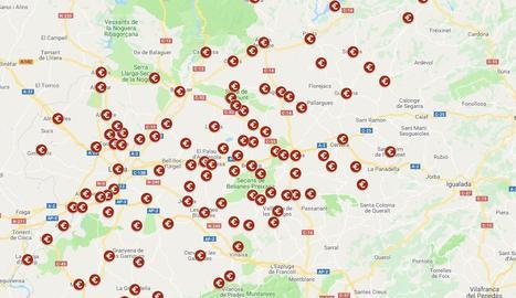 Imatge del mapa elaborat per SEGRE