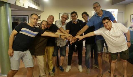 Els membres de la junta directiva han fet pinya per assumir un ascens històric per al club i el barri de Pardinyes.