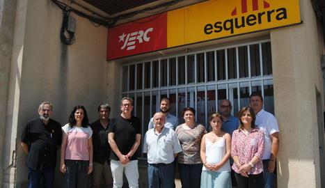 Membres d'ERC del pla i del Pirineu, ahir a Mollerussa.
