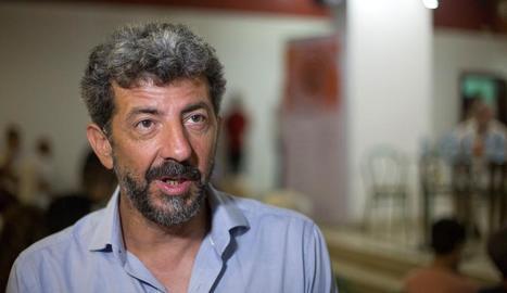 El director de cine espanyol Alberto Rodríguez, durant la mostra.