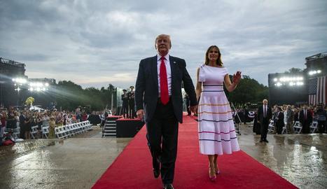 Trump i la seua esposa Melania, a les celebracions pel 4 de juliol, Dia de la Independència dels EUA.