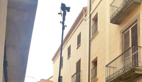 imatges. Giribet i el seu equip de Calidos van captar 70.000 fotos d'alta resolució de totes les façanes del centre històric.