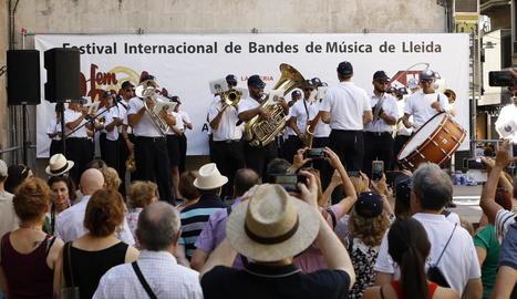 La banda de Cisternino, divendres a la Granja d'Escarp.