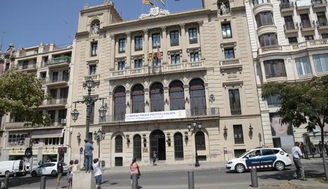 Imatge de l'actual façana de la Paeria a l'avinguda Madrid.