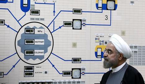 El president iranià, Hassan Rouhan, durant una visita a Bushehr.