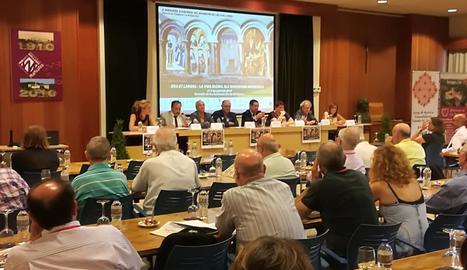 Acte inaugural ahir de la desena edició de les Jornades d'Història de les Avellanes.