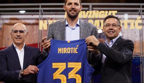 """Mirotic diu que el Barça és """"un pas endavant"""" en la seua carrera"""
