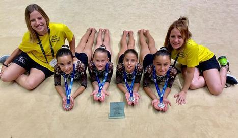 Plata per equips per al Club Gimnàstic Lleida a l'Estatal de València