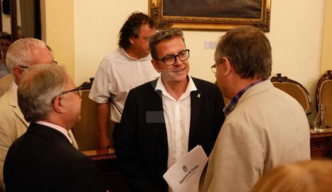 Imatges de l'últim ple de la Diputació de Lleida