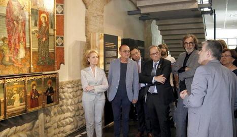 Tatxo Benet cedeix en dipòsit al Museu de Lleida el retaule gòtic de Sant Bartomeu de l'església de Capella, a la Franja