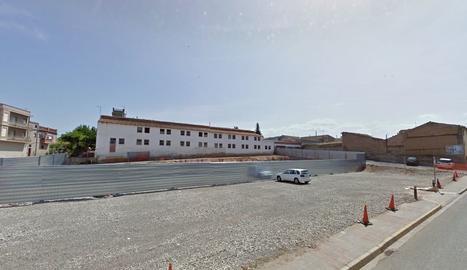 Espai on s'ubicarà el nou Arxiu Comarcal de les Garrigues, a l'antiga caserna de la Guàrdia Civil