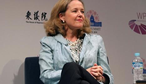 La ministra d'Economia espanyola en funcions, Nadia Calviño.