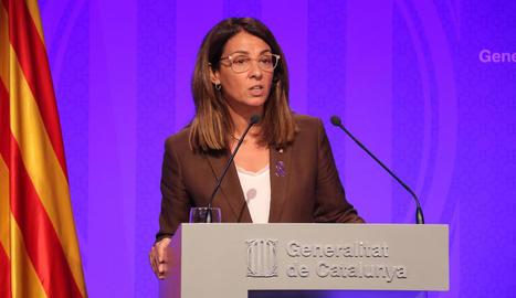La consellera de Presidència i portaveu del Govern, Meritxell Budó, ahir.