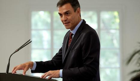 El president del Govern en funcions, Pedro Sánchez, en una foto d'arxiu.