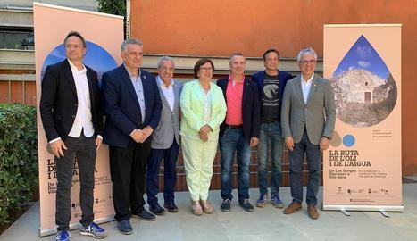 Presentació de la ruta al Palau Robert de Barcelona.